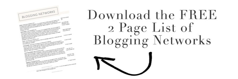 Free 2 page List of Blogging Networks