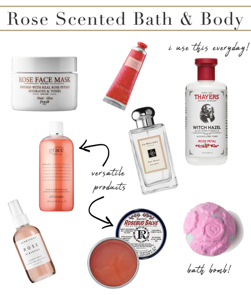 Rose Scented Bath and Body Products