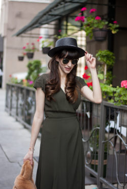 Kin the Label Straw Hat and Reformation Wrap Dress