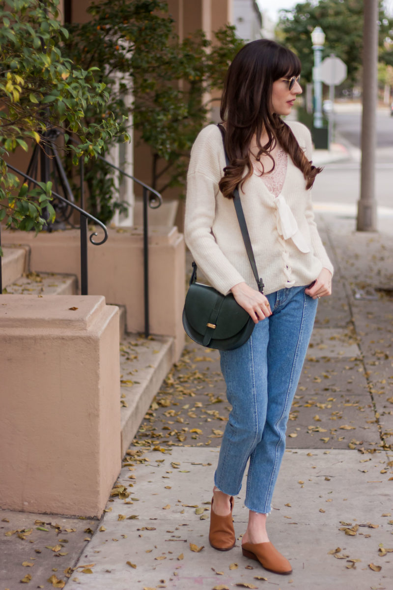 Jeans and a Teacup wearing Sezane and Reformation