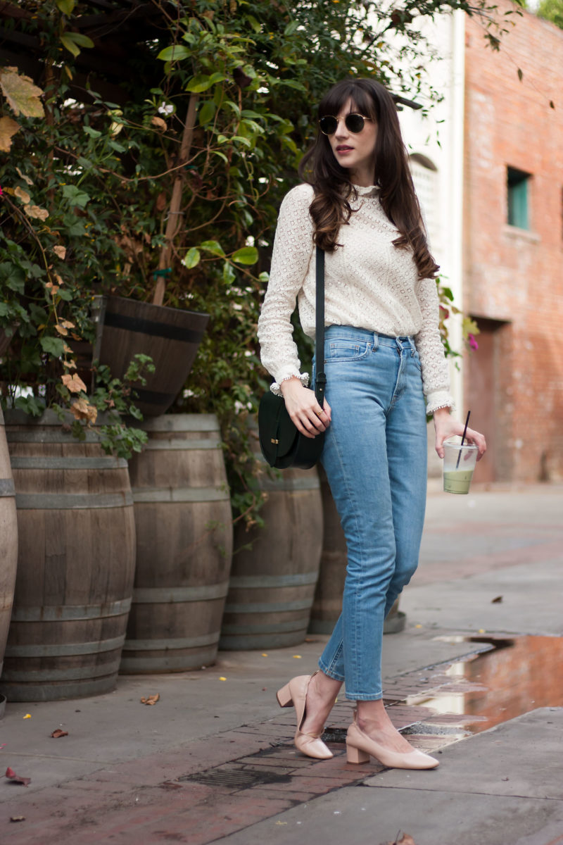 Los Angeles Fashion Blogger wearing Everlane Day Heels and Sezane Crossbody Bag