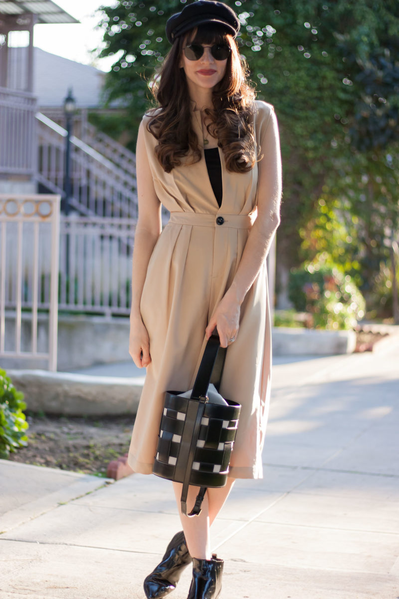 Chic and Trendy Jumpsuit with Black Booties.