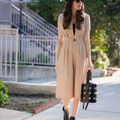 Trendy Romper on Los Angeles Style Blogger