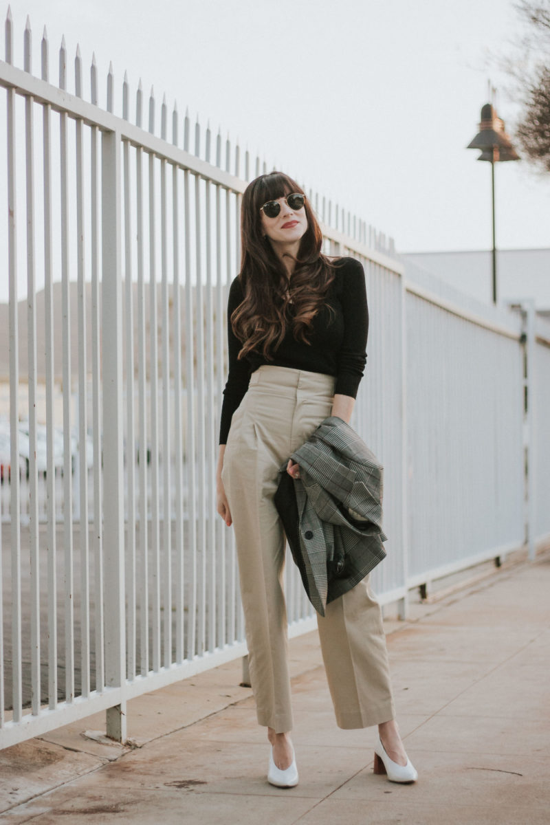 Minimalist Los Angeles Fashion Blogger wearing And Other Stories Hight Waisted Pants