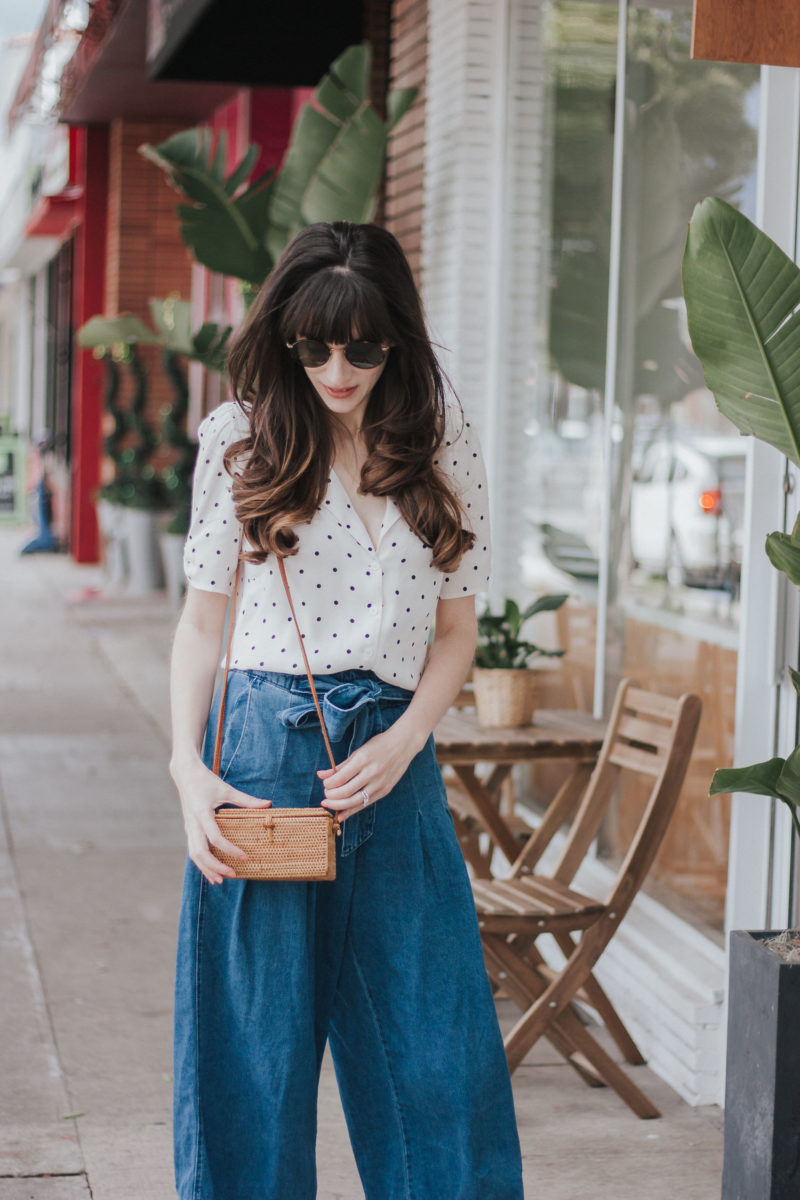 Fashion Blogger wearing Universal Threads Denim and 31 Bits Bag