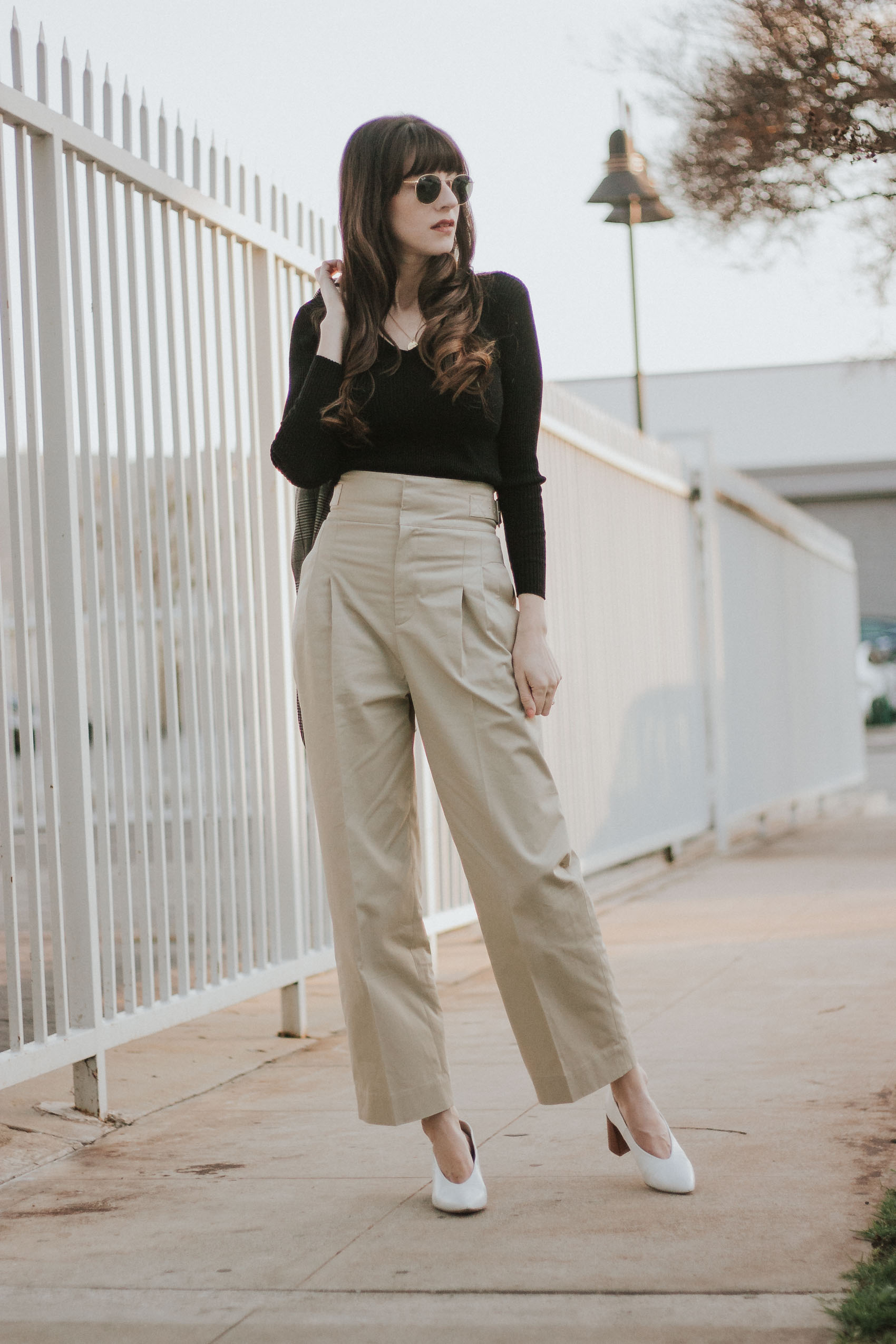 Los Angeles Blogger wearing And Other Stories High Waisted Safari Pants