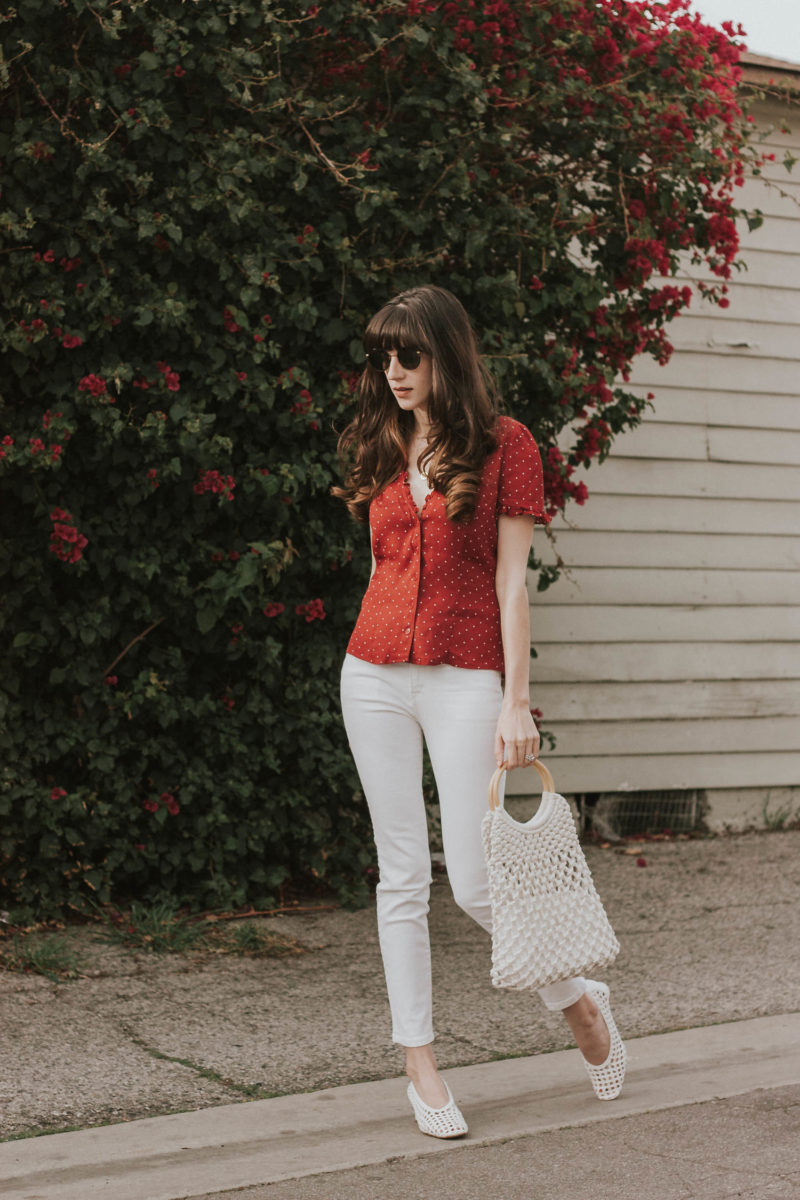 Los Angeles Blogger wearing VIntage Inspired Outfit