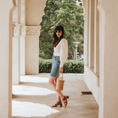 California Fashion Blogger wearing French Inspired Summer Outfit