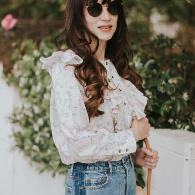 Floral Top + Fun Denim for Spring