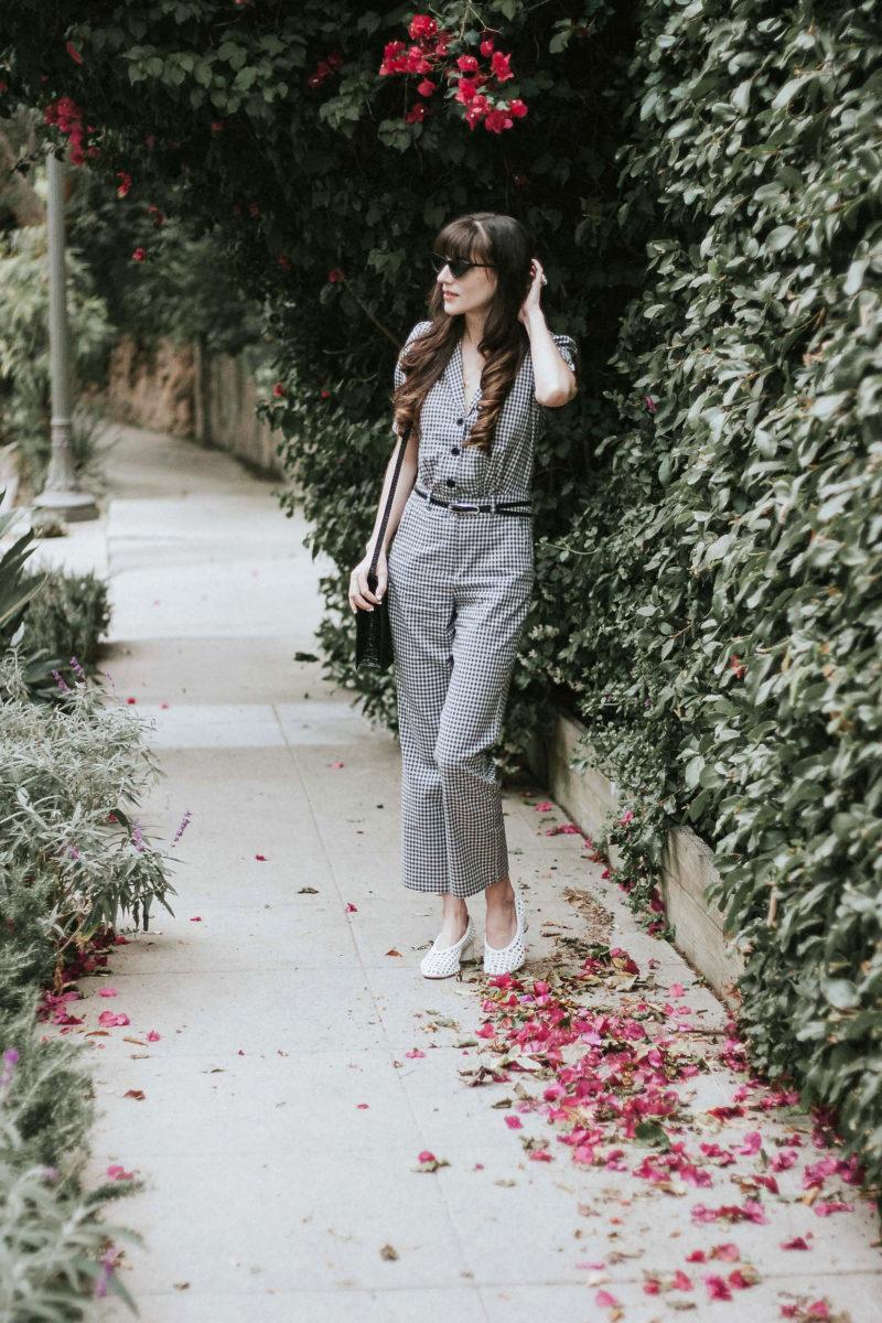 Musier Paris Grey Gingham Jumpsuit
