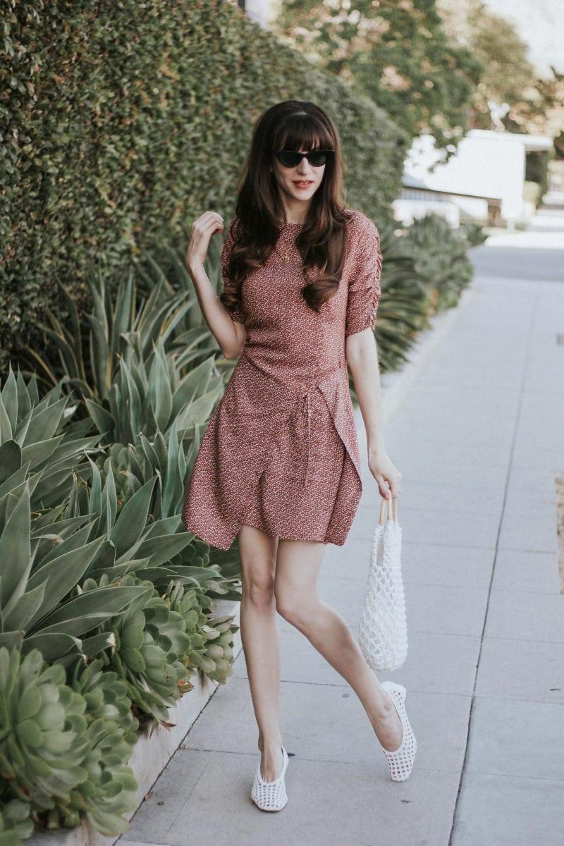 Los Angeles Fashion Blogger wearing Musier Paris Wrap Dress
