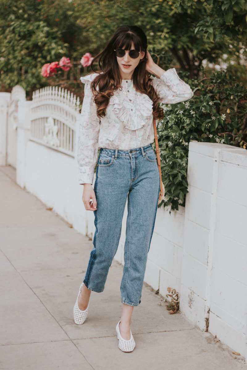 Rebecca Taylor Top, Vintage Style Denim, Topshop woven heels