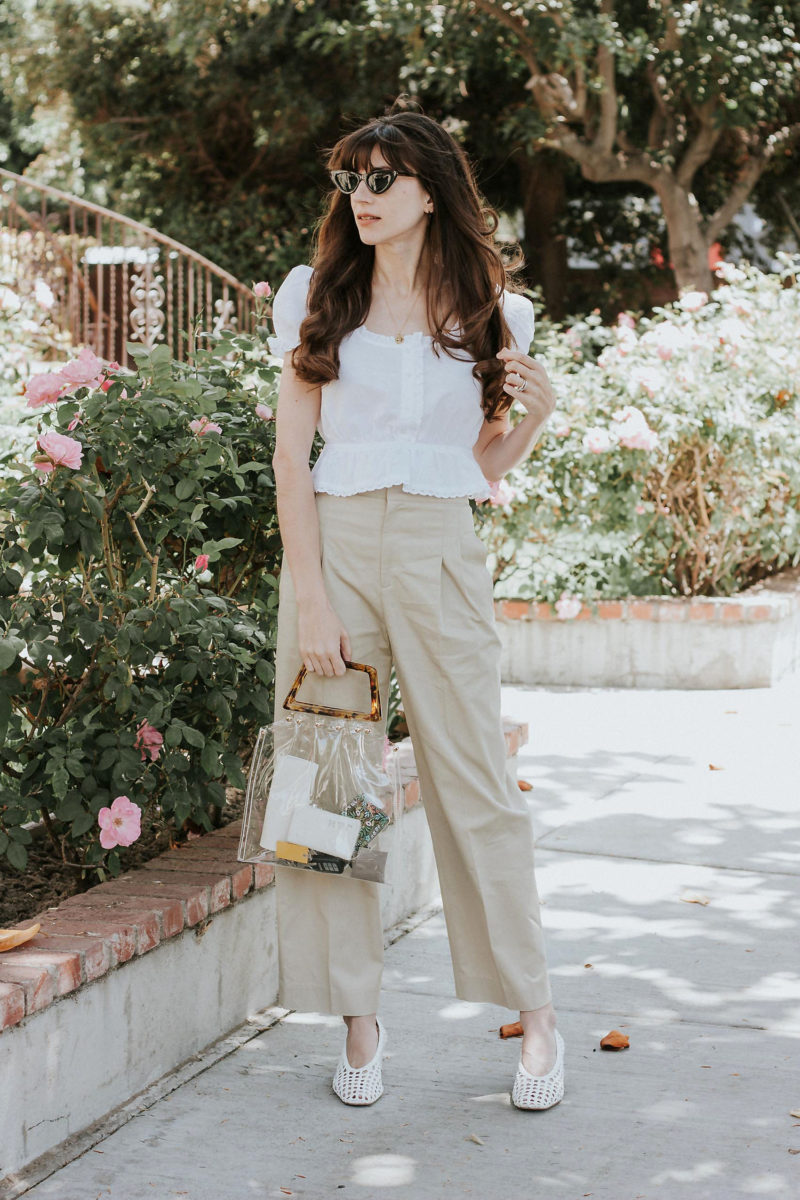 Why it's important to shop small plus wearing Rouje Top and & Other Stories High Waisted Pants