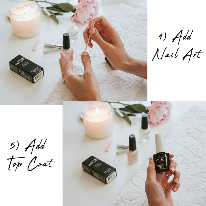 At Home Manicure Steps with CND VINYLUX