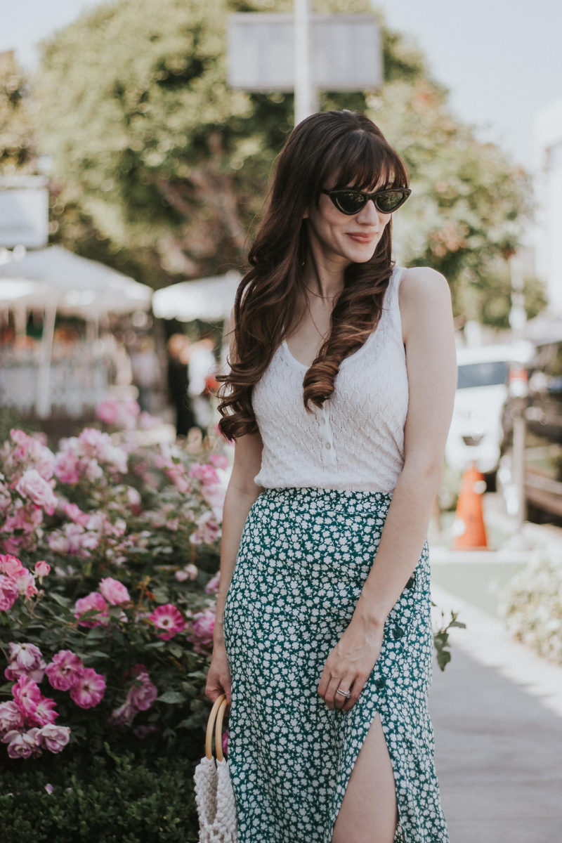 Affordable fashion blogger wearing Parisian inspired summer outfit
