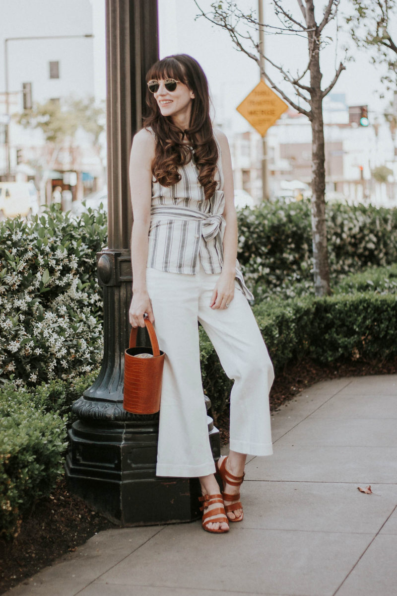 Los Angeles Style Blogger wearing affordable top from Who What Wear Collection