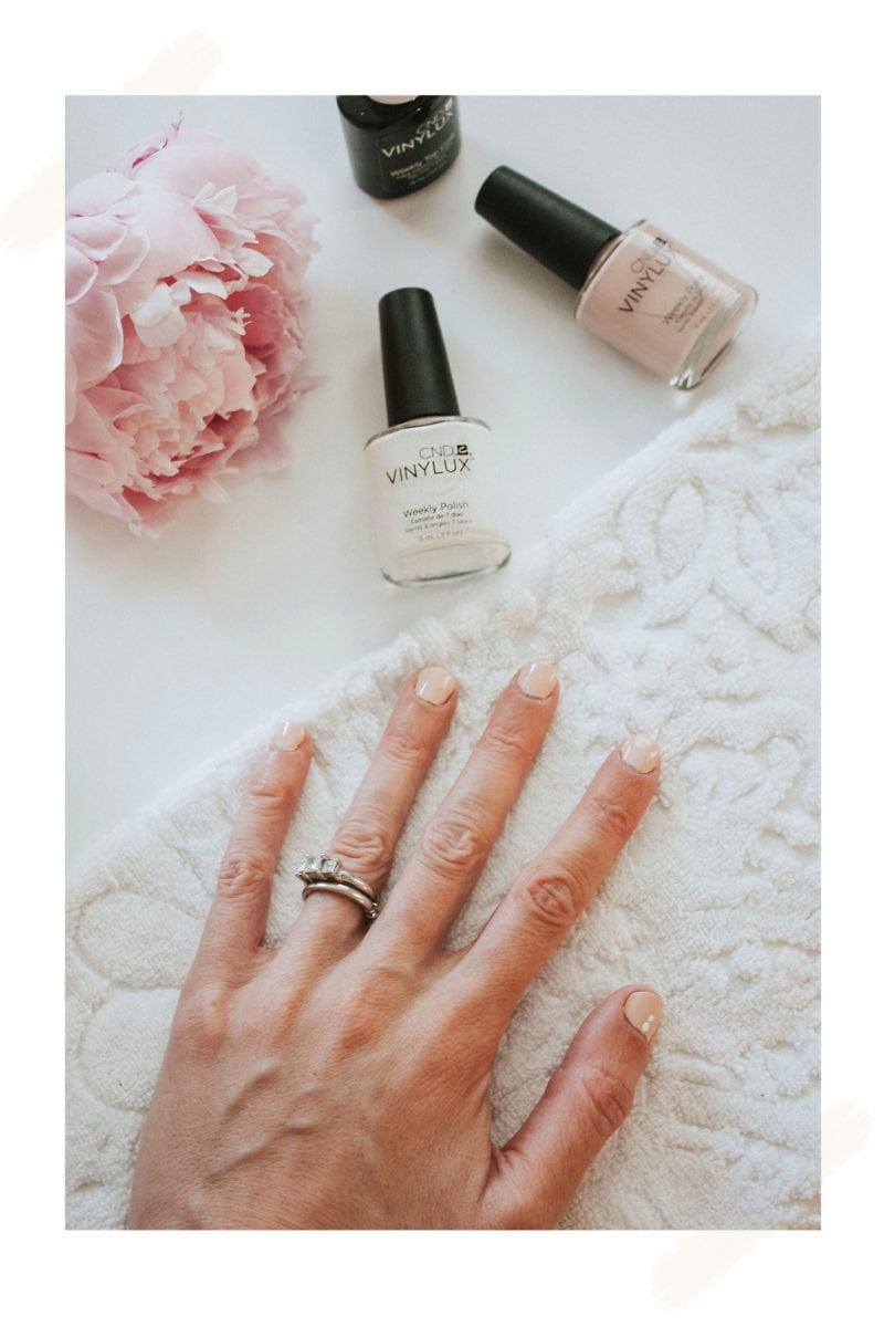 Minimalist Manicure featuring CND VINYLUX long wear polish