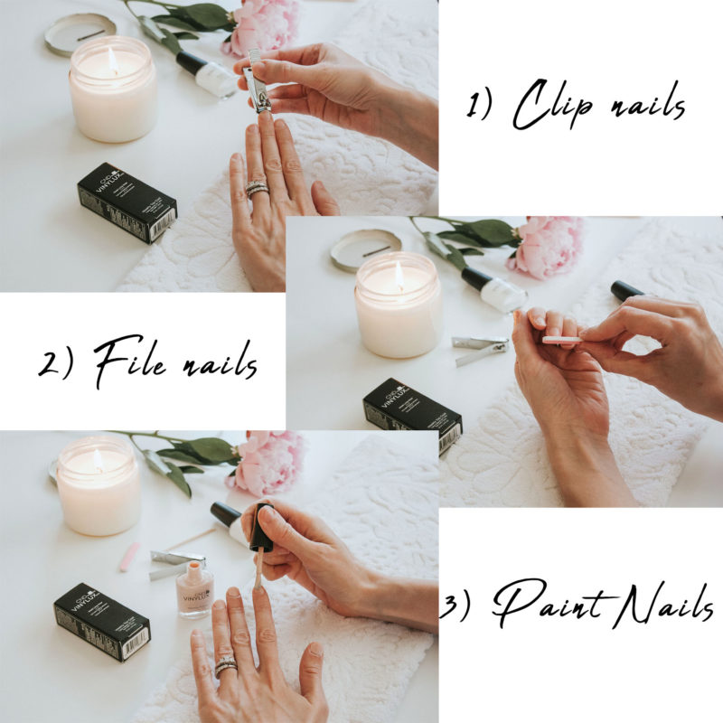 At Home Manicure Steps