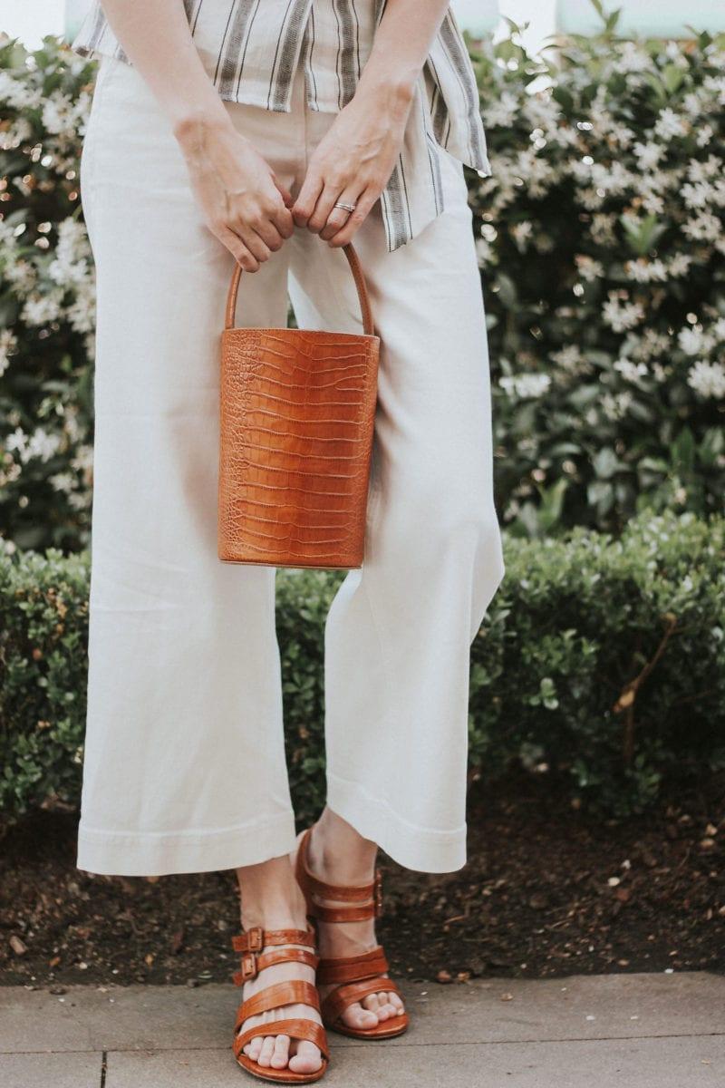 Marais USA Bucket Bag and Strap Sandals