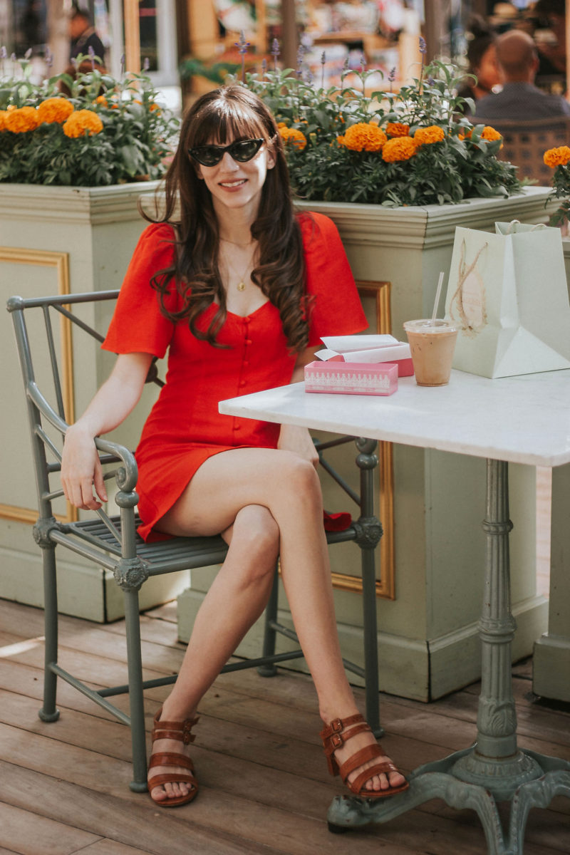 The perfect red dress for summer on Los Angeles Fashion Blogger
