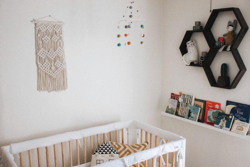 Imani Collective Handmade Wall Hanging in babies nursery