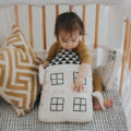 Imani Collective Interactive House Pillow Plush Baby Toy - Nursery Decor