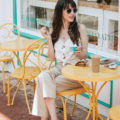 Fashion Blogger at Gelato Shop in West Chester
