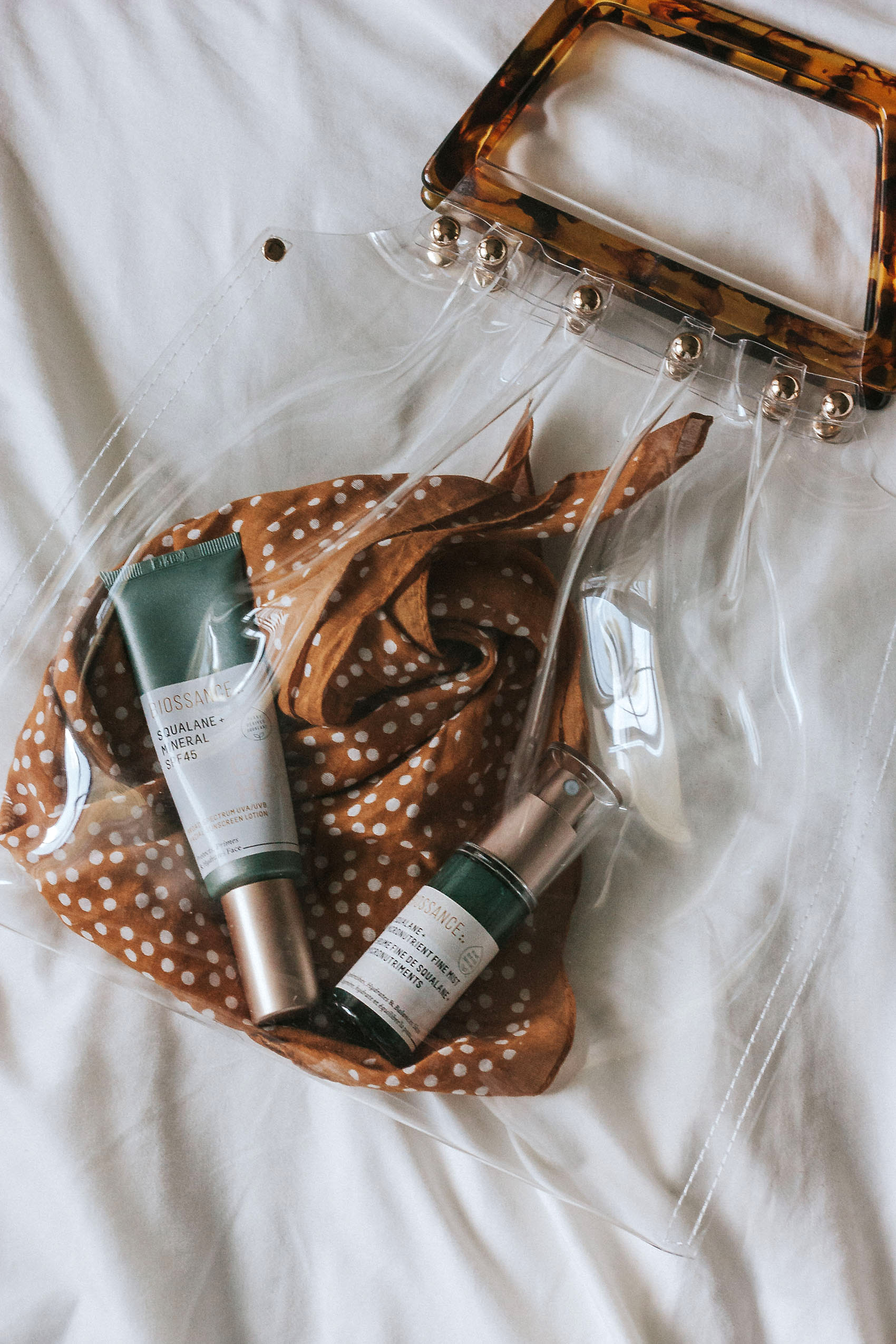 Travel Size Natural Skincare Products, Biossance SPF Mineral lotion