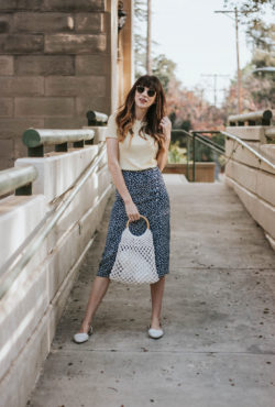 French Inspired Outfit on Los Angeles Style Blogger