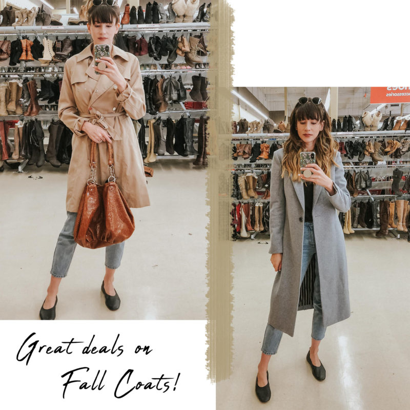 Deals on Fall Coats at Savers Thrift Store