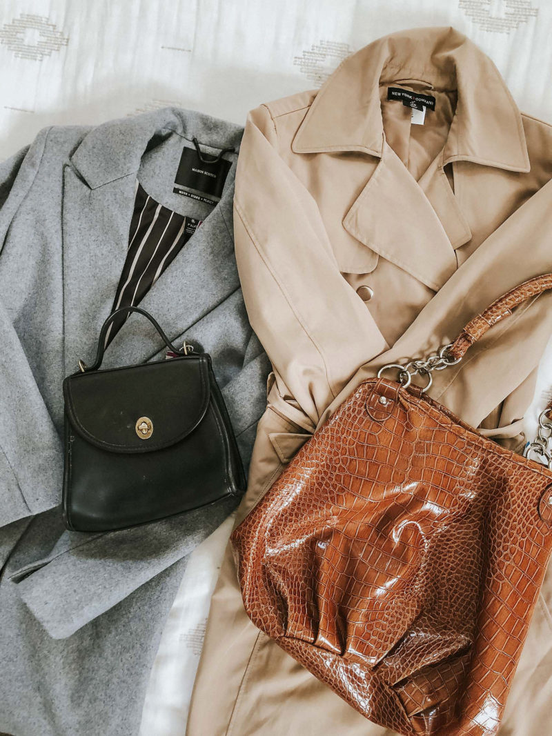 Maison Scotch Coat, Trench Coat, Vintage Coach Bag, Savers Thrift