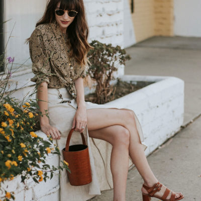 A Neutral Summer Outfit Featuring Fall Trends