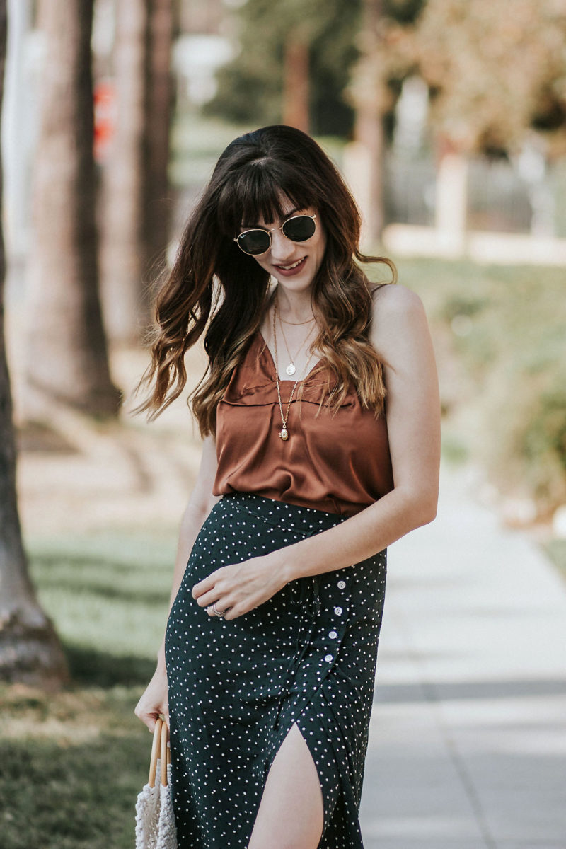 Rouje Paris outfit on Los Angeles Fashion Blogger at the Brand Library
