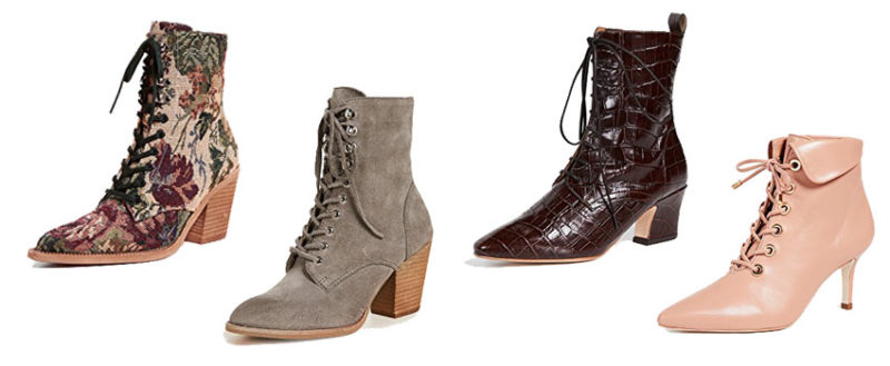 Fall 2018 Boot Trends, Victorian Lace Up Boot Trend