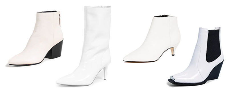 Fall 2018 Boot Trends, White Booties for Fall
