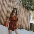 Marais USA Bucket Bag, & Other Stories Skirt, Sezane Silk Blouse on Los Angeles Fashion Blogger