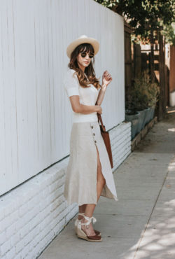 Sustainable fashion brands, Everlane and Reformation, on Los Angeles Fashion Blogger