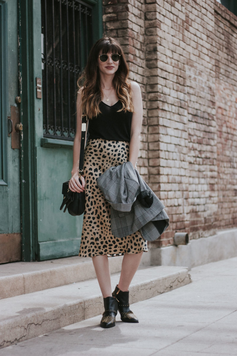 Urban chic outfit in the Arts District of Downtown LA