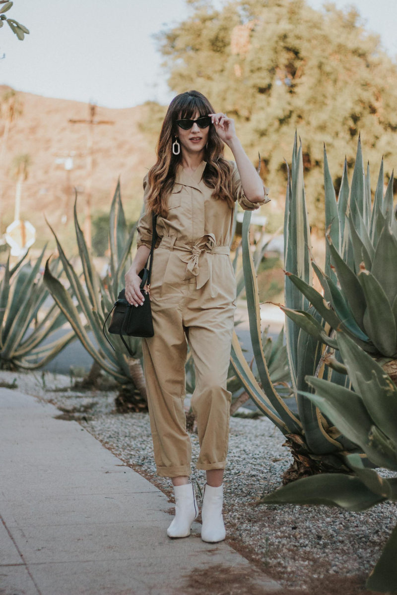 Los Angeles Fashion Blogger wearing Who What Wear Collection jumpsuit