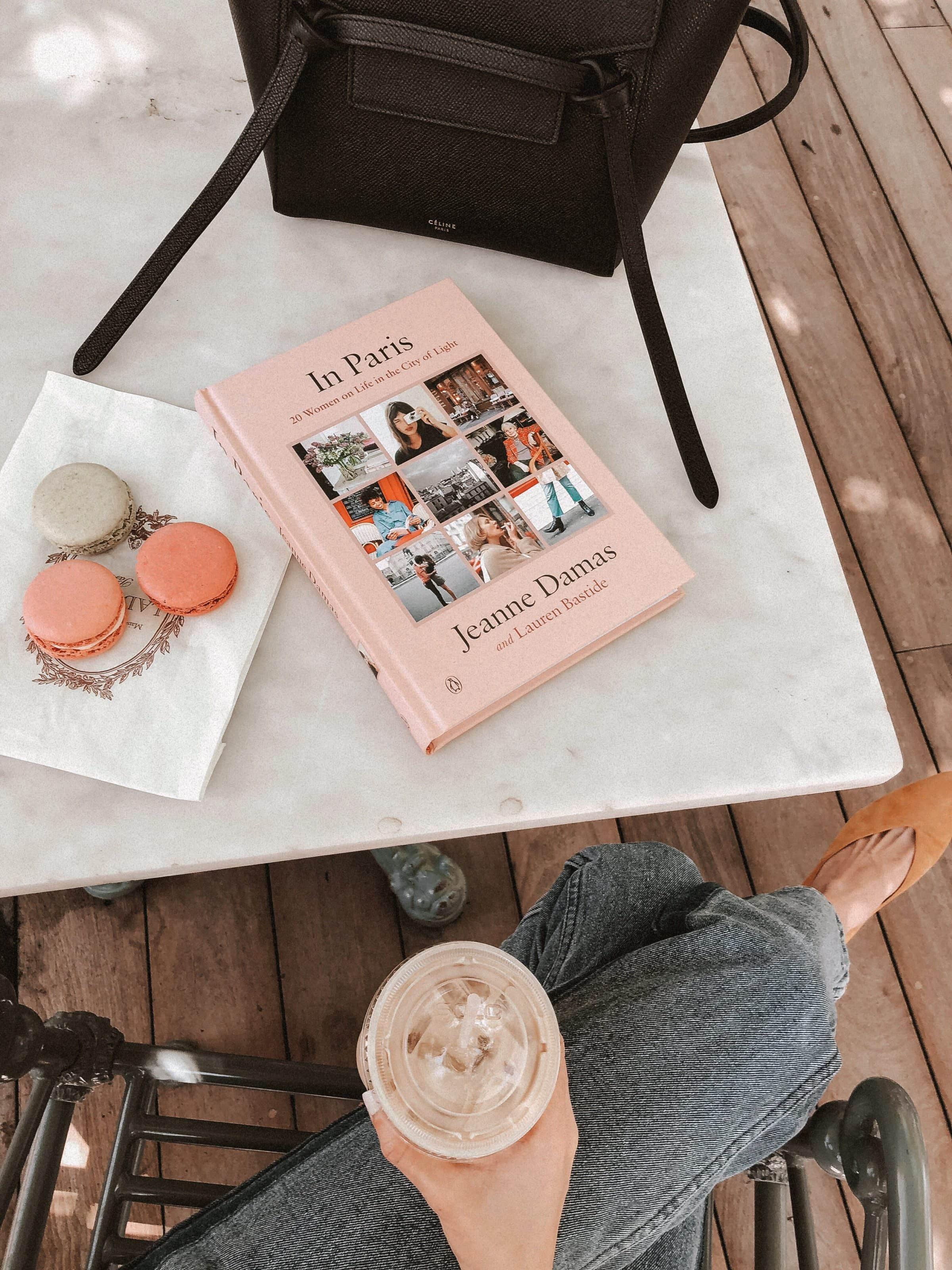 In Paris Book with Laduree Macaroons and Celine Belt Bag