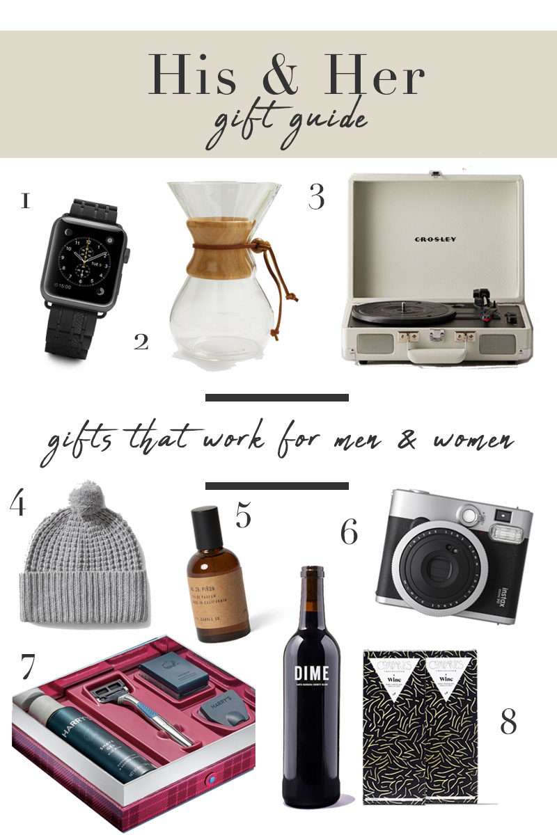 Gifts that work for both men and women, Gift Guide 2018, Gift Guide Men and Women, Gifts for him and her, unisex gifts, holiday gifts, Christmas gifts