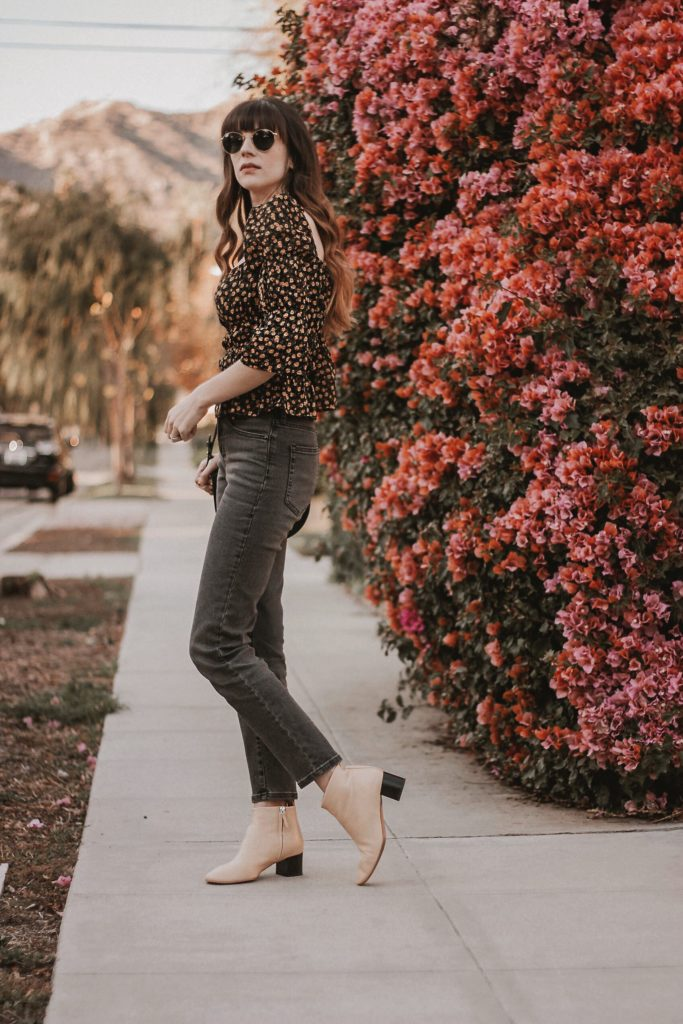 Everlane Day Boot on Los Angeles Minimalist Fashion Blogger, Everlane Denim, Reformation Top