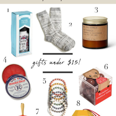 Stocking Stuffer Gift Guide: Gifts Under $15!