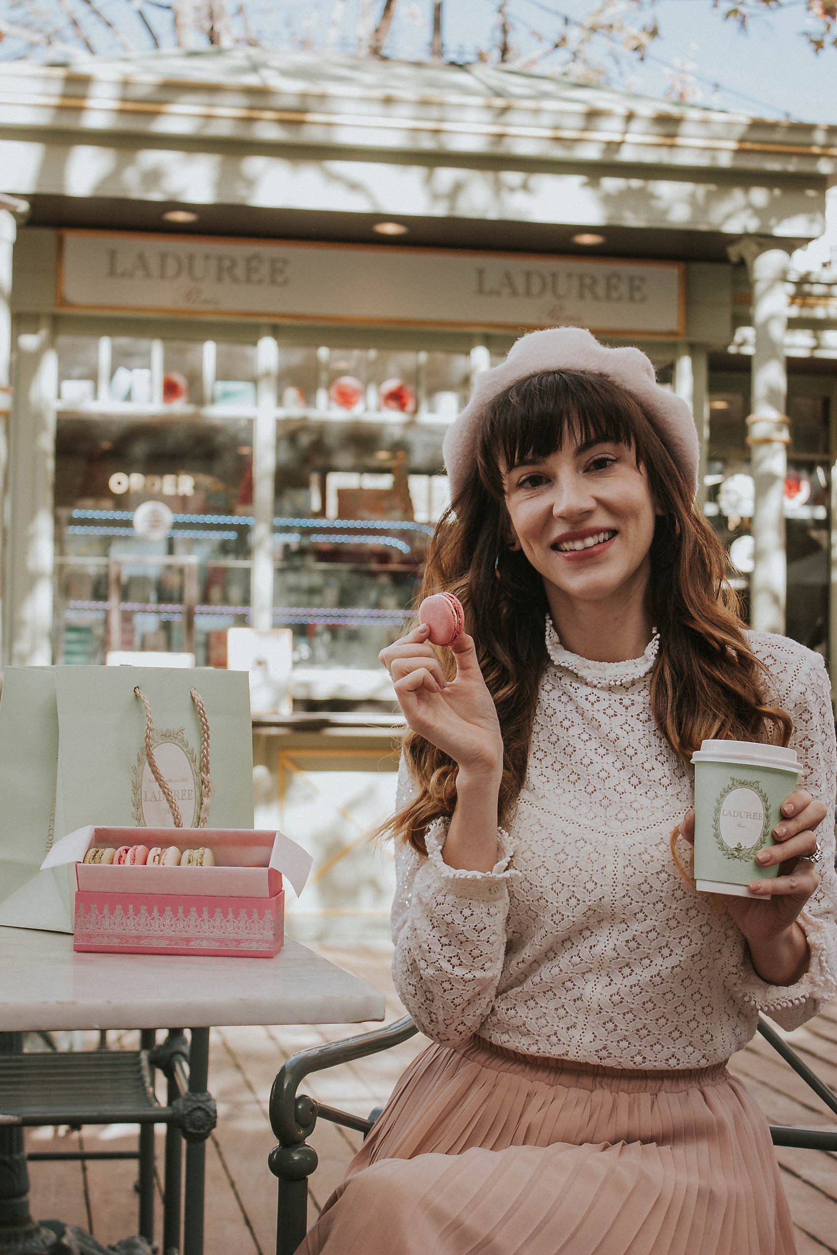Jeans and a Teacup About Me, Laduree at the Americana at Brand