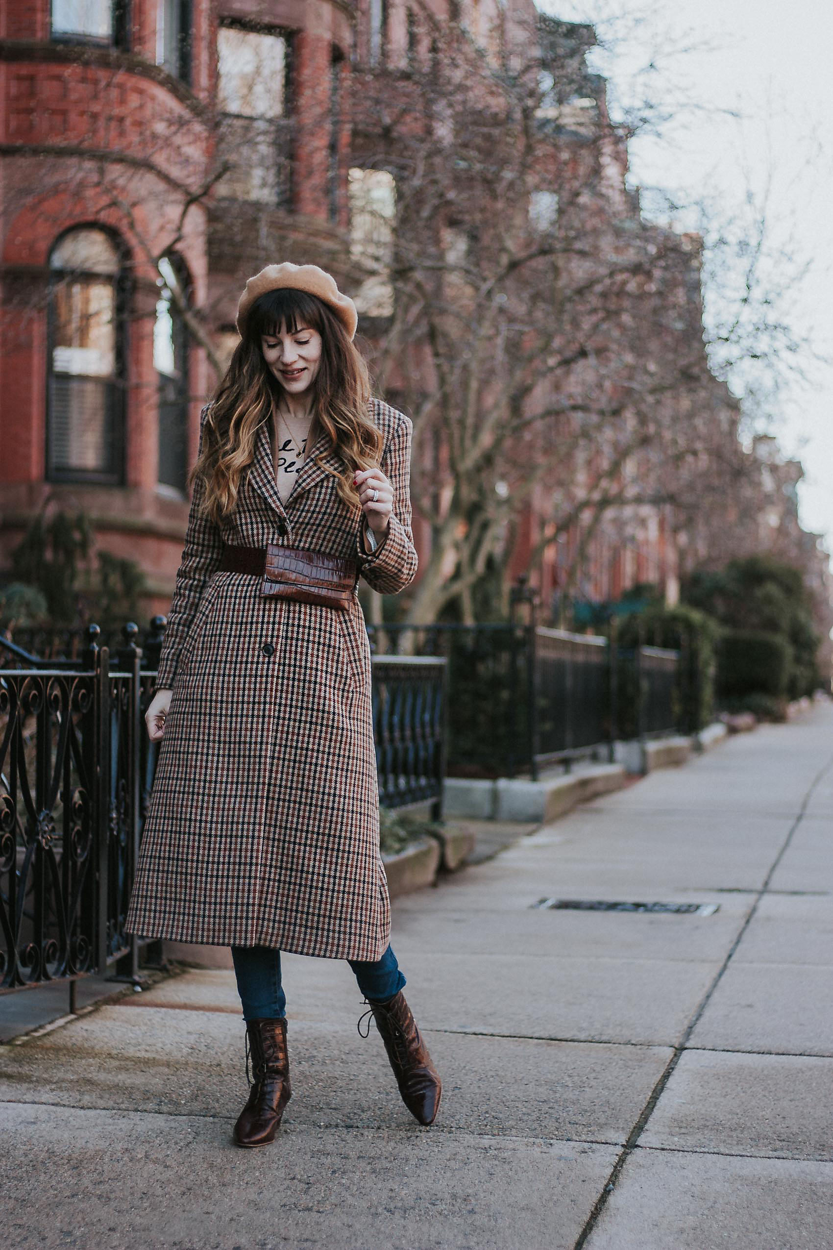 Neutral Layered Winter Outfit, How to Dress in Layers in Winter
