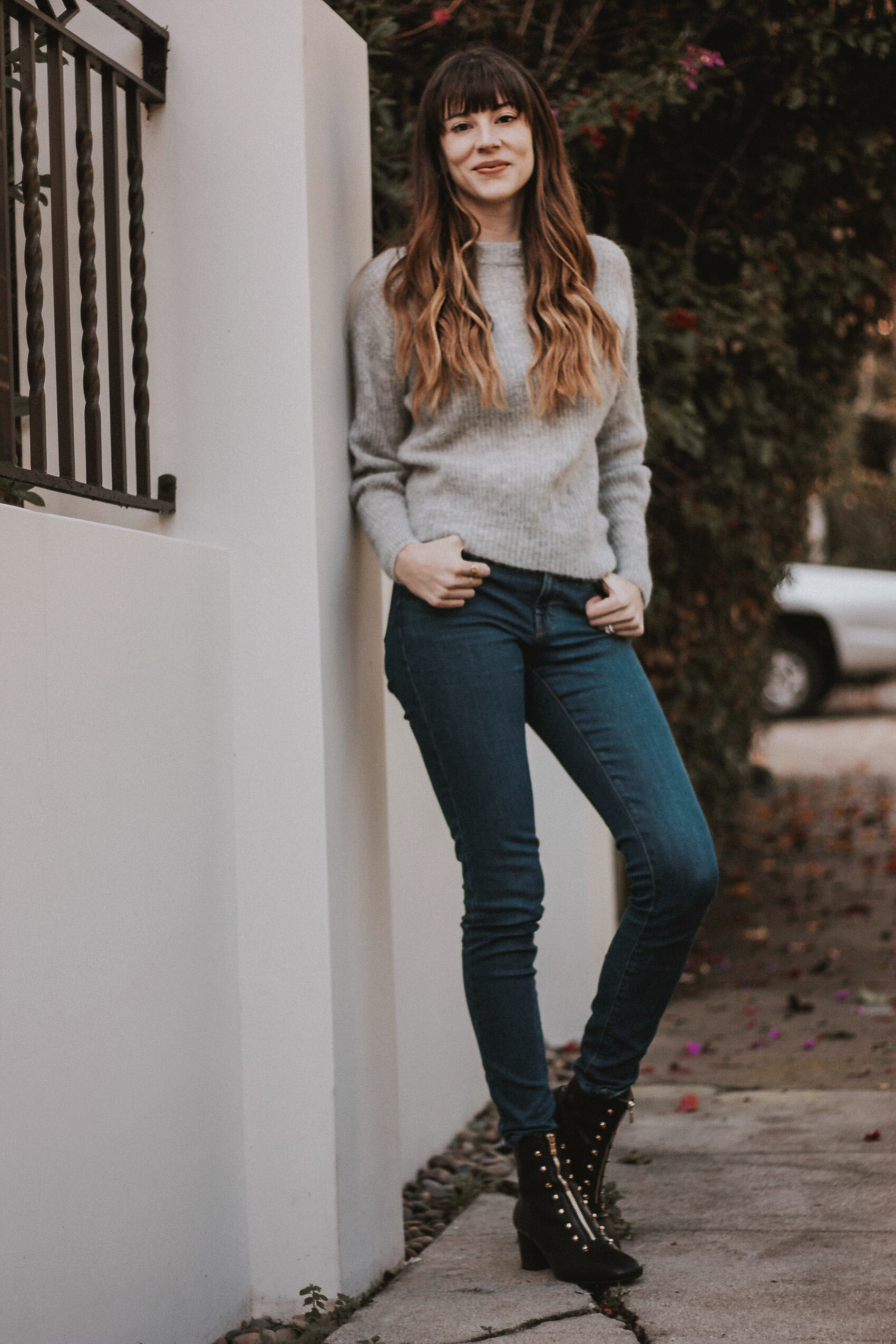 Sustainable Winter Style, Everlane Denim, Everlane Alpaca Sweater, An Hour and a Shower Boots