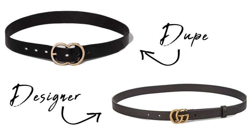 Dupe Versus Designer Gucci Belt
