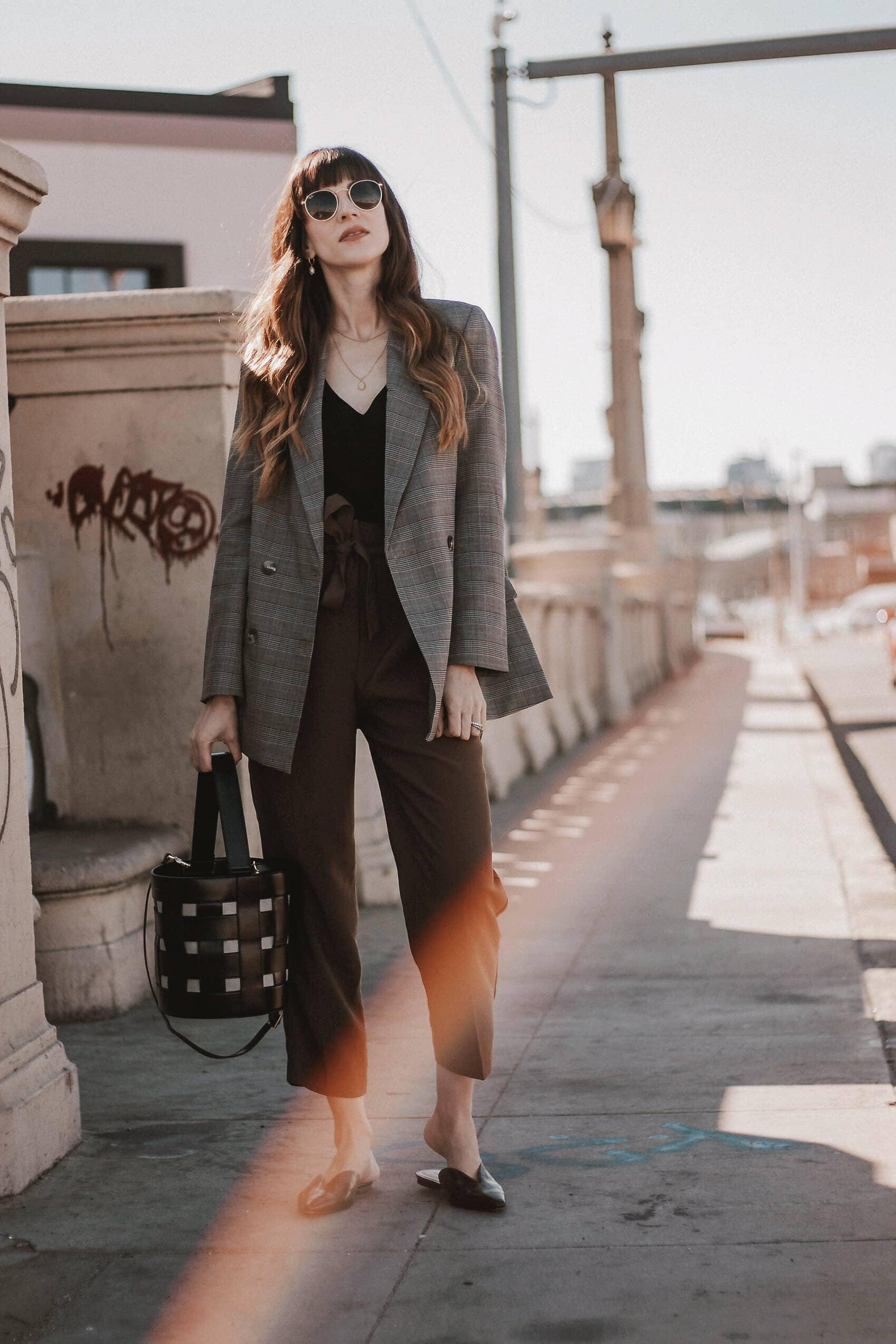 Ethical Fashion Blogger wearing Frank and Oak Blazer