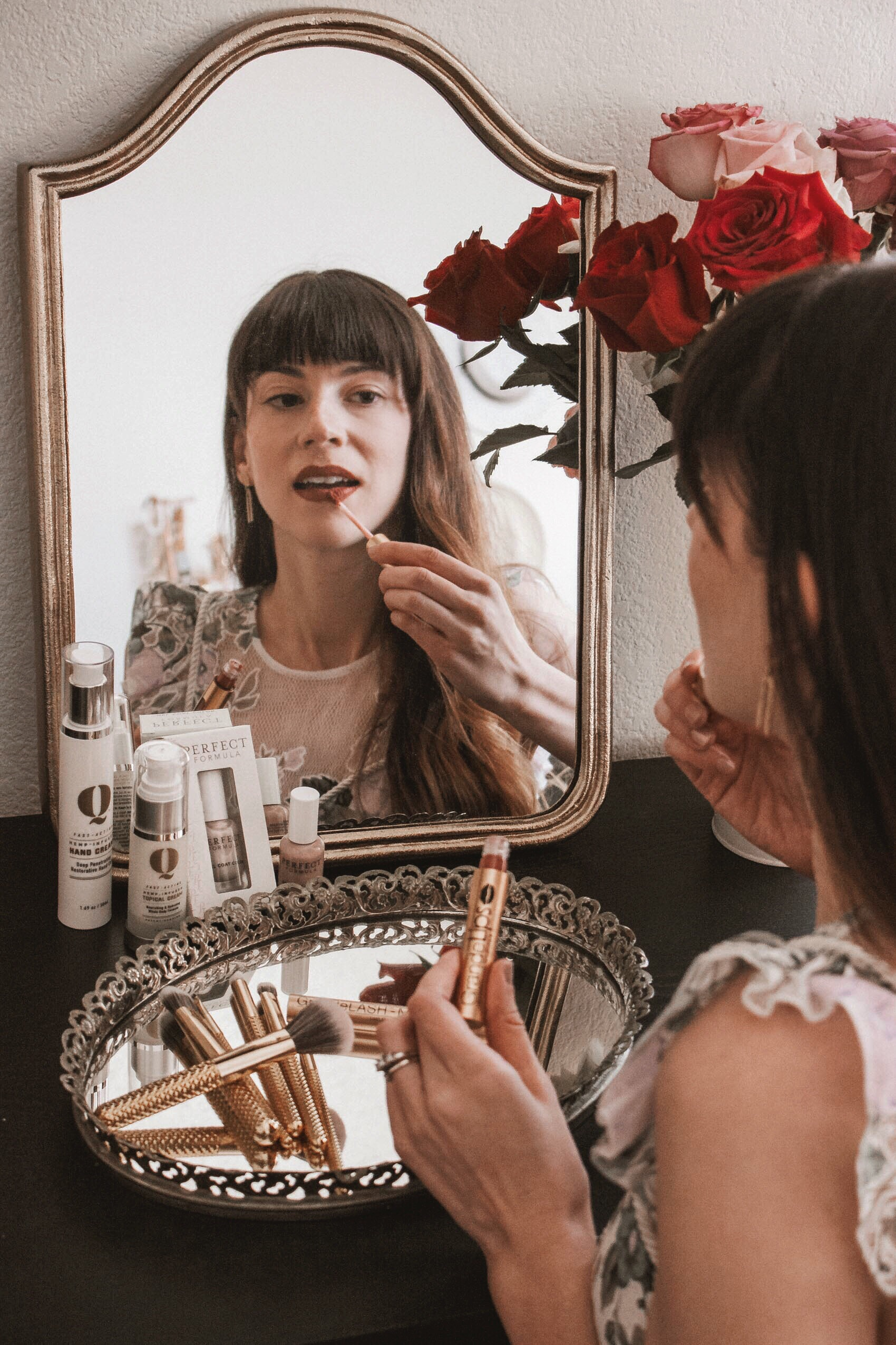 How to Get Red Carpet Ready with Hand & Stone Spa, Dermalogica, Perfect Formula Gel Nails, The Gold Q Hand Cream, Grande Cosmetics, Moda Brushes