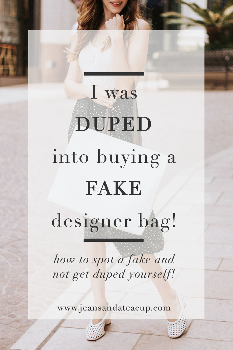 I was duped into buying a fake designer bag